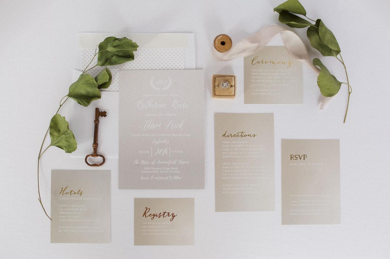 Gorgeous Personalized Wedding Invitations | Basic Invite